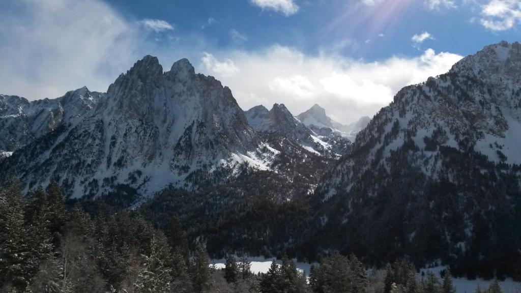 Parque Nacional con raquetas de nieve