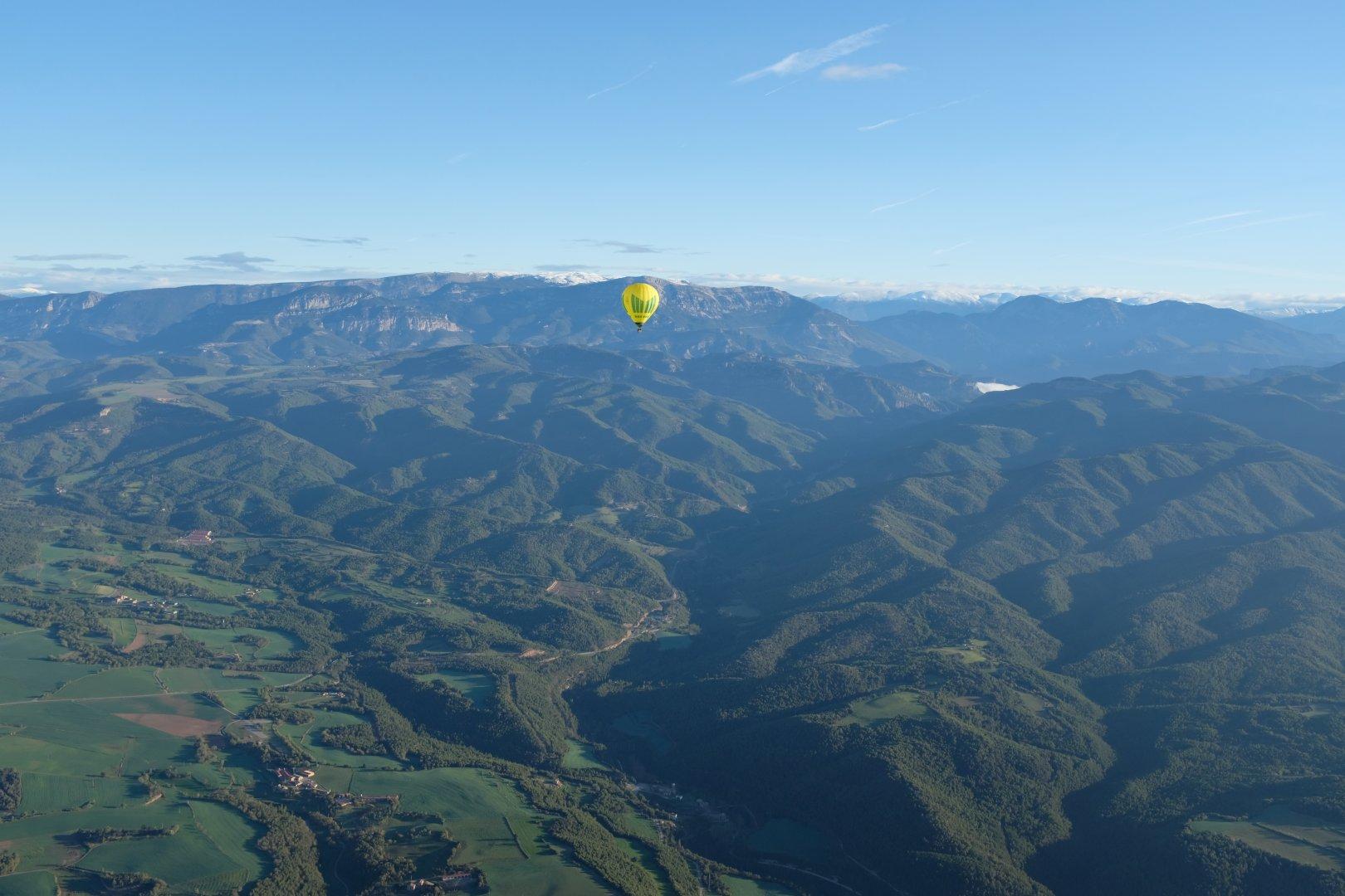 Vol en globus pel Solsonès