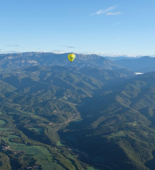 Balloon flight through the Solsonès